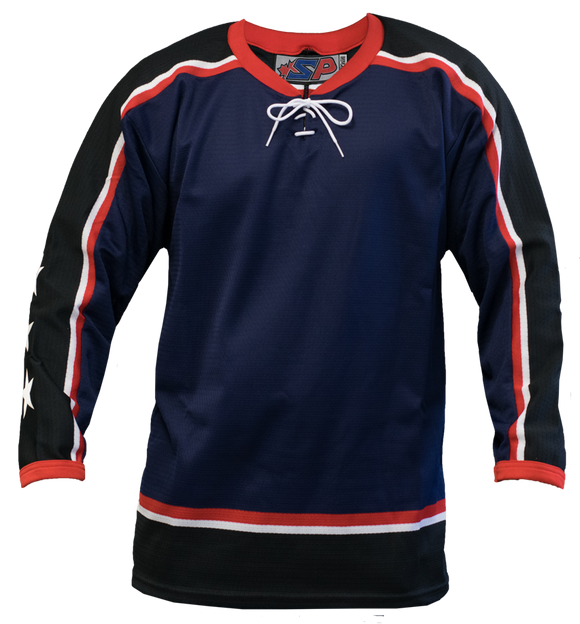 SP Apparel League Series Columbus Blue Jackets Navy Sublimated Hockey Jersey