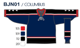 SP Apparel League Series Columbus Blue Jackets Navy Sublimated Hockey Jersey - PSH Sports