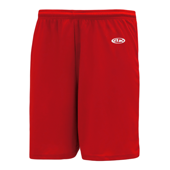 Athletic Knit (AK) BS1300 Red Basketball Shorts
