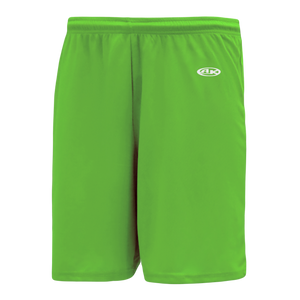 Athletic Knit (AK) BS1300 Lime Green Basketball Shorts