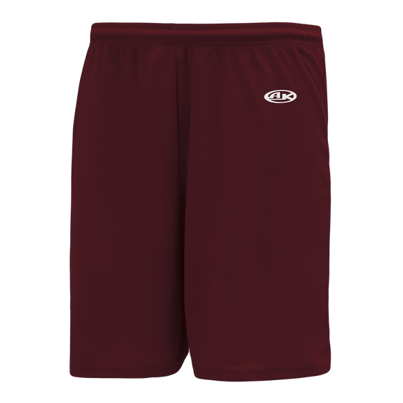 Athletic Knit (AK) BS1700-009 Maroon Basketball Shorts