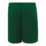 Athletic Knit (AK) BS1700-029 Dark Green Basketball Shorts