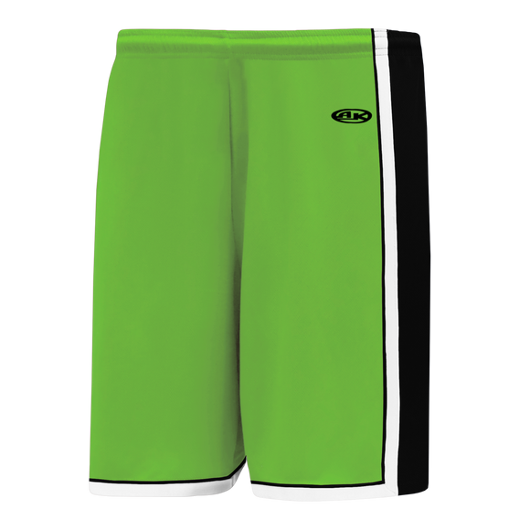 Athletic Knit (AK) BS1735 Lime Green/Black/White Pro Basketball Shorts
