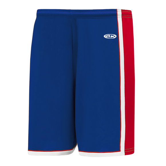 Athletic Knit (AK) BS1735 Royal Blue/Red/White Pro Basketball Shorts