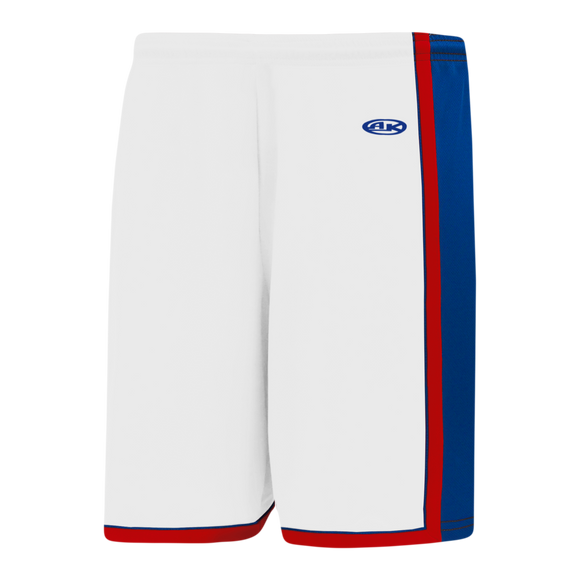 Athletic Knit (AK) BS1735-335 White/Royal Blue/Red Pro Basketball Shorts