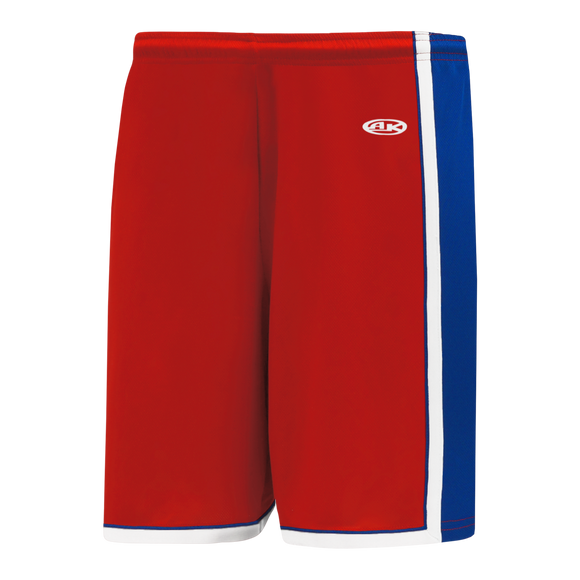 Athletic Knit (AK) BS1735-344 Red/Royal Blue/White Pro Basketball Shorts