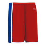 Athletic Knit (AK) BS1735 Red/Royal Blue/White Pro Basketball Shorts