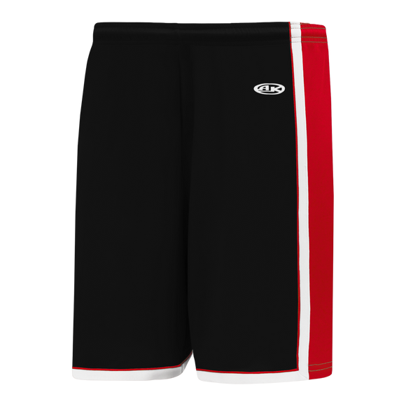Athletic Knit (AK) BS1735 Black/Red/White Pro Basketball Shorts