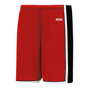Athletic Knit (AK) BS1735 Red/Black/White Pro Basketball Shorts