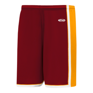 Athletic Knit (AK) BS1735-427 AV Red/Gold/White Pro Basketball Shorts