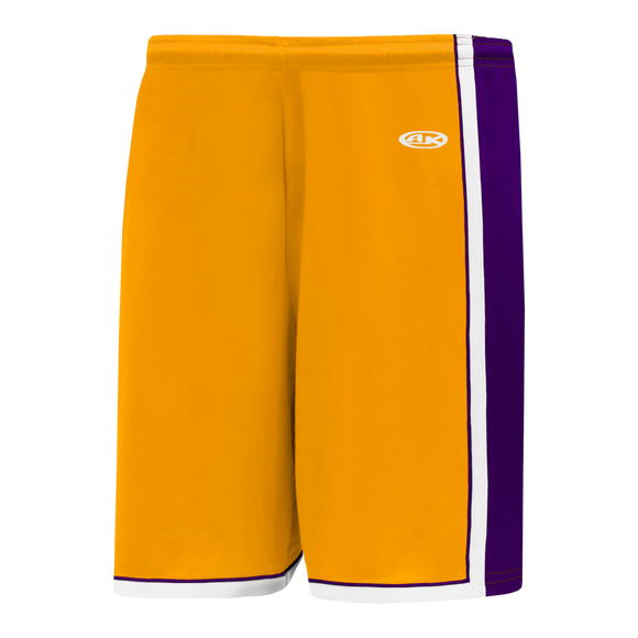 Athletic Knit (AK) BS1735-435 Gold/Purple/White Pro Basketball Shorts