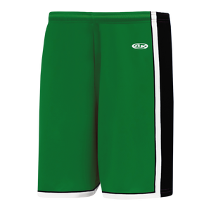 Athletic Knit (AK) BS1735-440 Kelly Green/Black/White Pro Basketball Shorts
