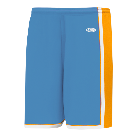 Athletic Knit (AK) BS1735 Sky Blue/Gold/White Pro Basketball Shorts