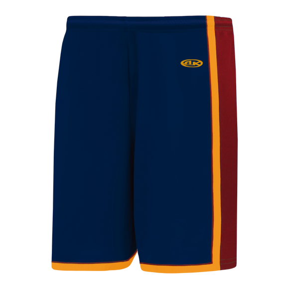Athletic Knit (AK) BS1735-544 Navy/AV Red/Gold Pro Basketball Shorts