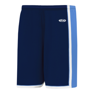 Athletic Knit (AK) BS1735-761 Navy/Sky Blue/White Pro Basketball Shorts