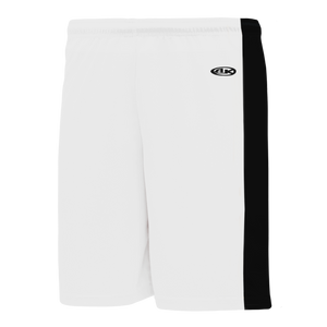 Athletic Knit (AK) BS9145-222 White/Black Pro Basketball Shorts