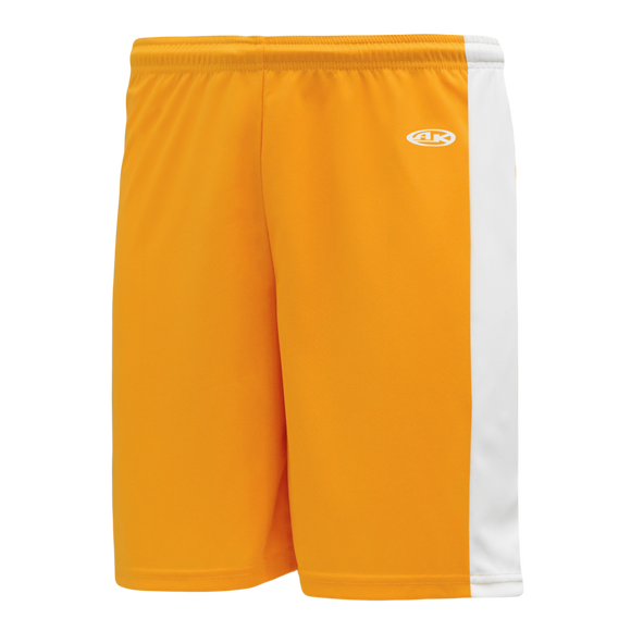 Athletic Knit (AK) BS9145-236 Gold/White Pro Basketball Shorts
