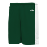 Athletic Knit (AK) BS9145 Dark Green/White Pro Basketball Shorts