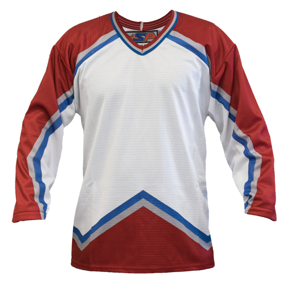 SP Apparel League Series Colorado Avalanche White Sublimated Hockey Jersey