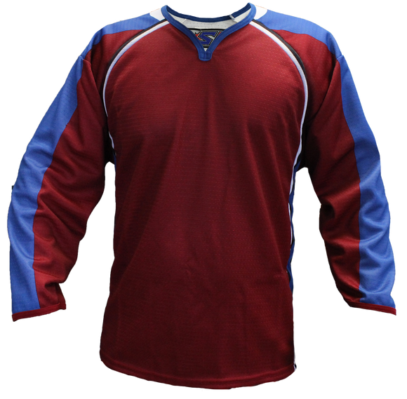 SP Apparel Evolution Series Colorado Avalanche Burgundy Sublimated Hockey Jersey - PSH Sports
