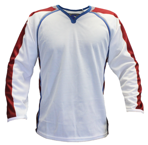 SP Apparel Evolution Series Colorado Avalanche White Sublimated Hockey Jersey - PSH Sports