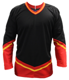 SP Apparel League Series Calgary Flames Black Sublimated Hockey Jersey - PSH Sports