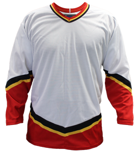 SP Apparel League Series Calgary Flames White Sublimated Hockey Jersey - PSH Sports