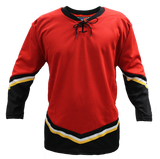 SP Apparel League Series Calgary Flames Red Sublimated Hockey Jersey - PSH Sports