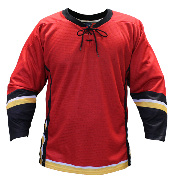 SP Apparel Evolution Series Calgary Flames Red Sublimated Hockey Jersey - PSH Sports