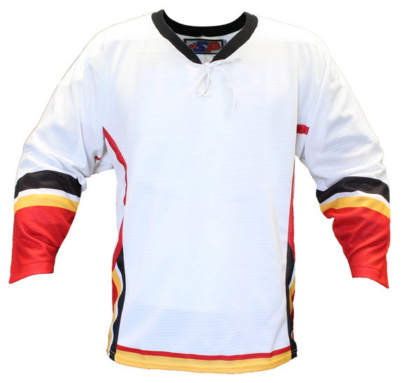 SP Apparel Evolution Series Calgary Flames White Sublimated Hockey Jersey - PSH Sports