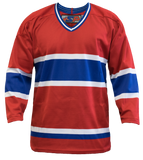 SP Apparel League Series Montreal Canadiens Red Sublimated Hockey Jersey