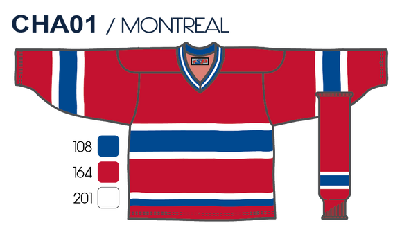 SP Apparel League Series Montreal Canadiens Red Sublimated Hockey Jersey - PSH Sports