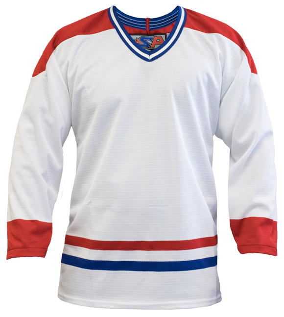 SP Apparel League Series Montreal Canadiens White Sublimated Hockey Jersey