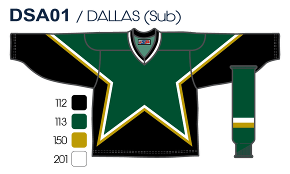 SP Apparel League Series Dallas Stars Forest Green Sublimated Hockey Jersey - PSH Sports