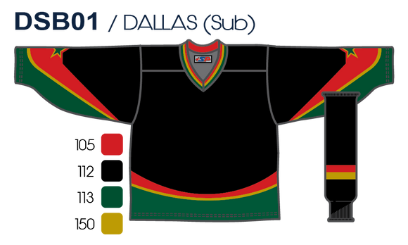 SP Apparel League Series Dallas Stars Black Sublimated Hockey Jersey - PSH Sports
