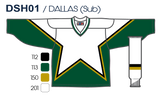 SP Apparel League Series Dallas Stars White Sublimated Hockey Jersey - PSH Sports