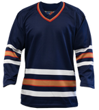 SP Apparel League Series Edmonton Oilers Navy Sublimated Hockey Jersey