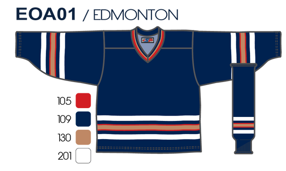 SP Apparel League Series Edmonton Oilers Navy Sublimated Hockey Jersey - PSH Sports