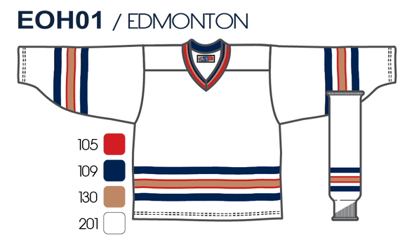 SP Apparel League Series Edmonton Oilers White Sublimated Hockey Jersey - PSH Sports