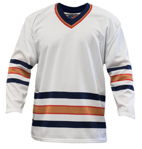 SP Apparel League Series Edmonton Oilers White Sublimated Hockey Jersey