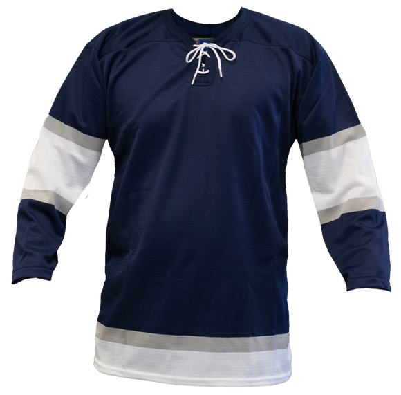 SP Apparel League Series 2002 Edmonton Oilers Third Navy Sublimated Hockey Jersey