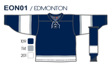 SP Apparel League Series 2002 Edmonton Oilers Third Navy Sublimated Hockey Jersey - PSH Sports