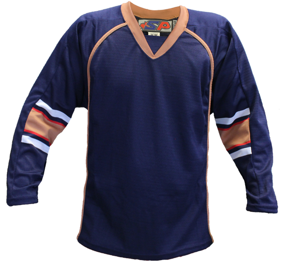 SP Apparel Evolution Series Edmonton Oilers Navy Hockey Jersey - PSH Sports