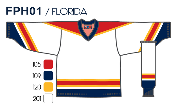 SP Apparel League Series Florida Panthers White Sublimated Hockey Jersey - PSH Sports