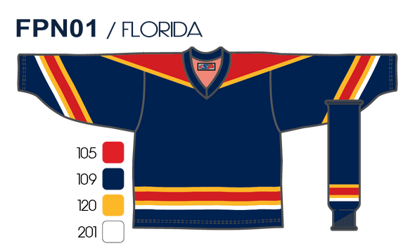 SP Apparel League Series Florida Panthers Navy Sublimated Hockey Jersey - PSH Sports
