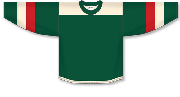 Athletic Knit (AK) H550B 2016 Minnesota Wild Stadium Series Dark Green Hockey Jersey - PSH Sports