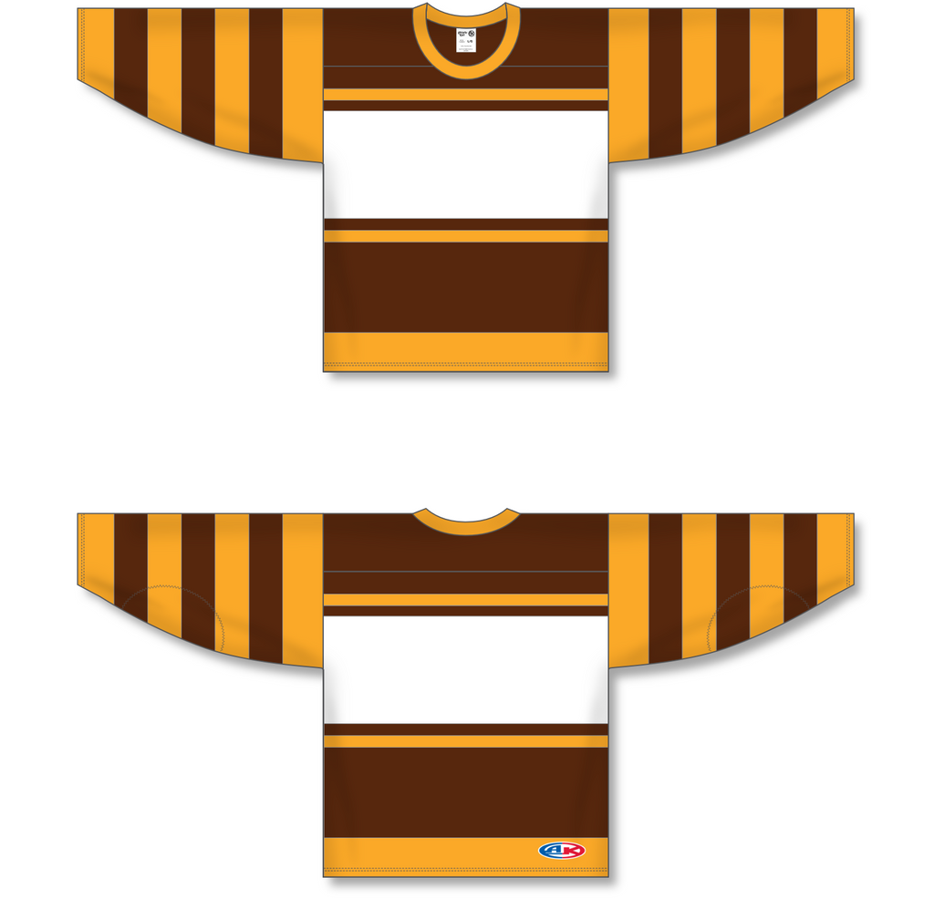 Athletic Knit (AK) H550A Boston Bruins Brown Hockey Jersey - PSH Sports
