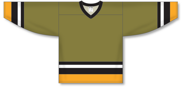 Athletic Knit (AK) H550A North Bay Battalion Olive Hockey Jersey - PSH Sports
