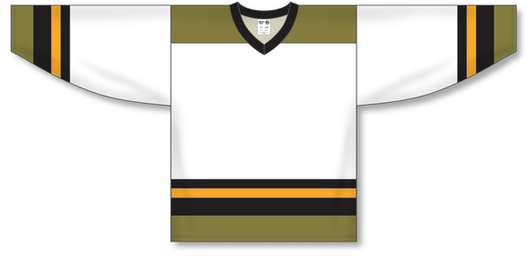 Athletic Knit (AK) H550A North Bay Battalion White Hockey Jersey - PSH Sports