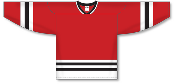 Athletic Knit (AK) H550A Chicago Blackhawks Red Hockey Jersey - PSH Sports
